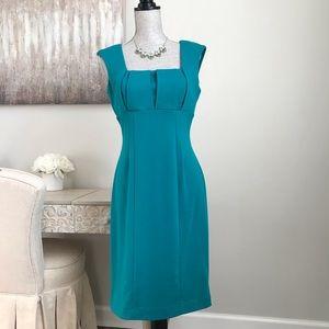 Calvin Klein Teal Green Sleeveless Sheath Dress